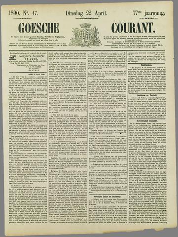 Goessche Courant 1890-04-22