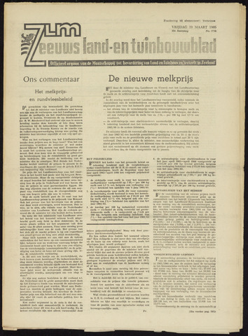 Zeeuwsch landbouwblad ... ZLM land- en tuinbouwblad 1965-03-19