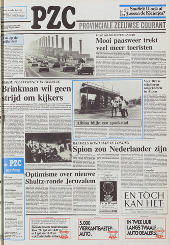 Provinciale Zeeuwse Courant 1988-04-05