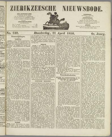 Zierikzeesche Nieuwsbode 1850-04-11