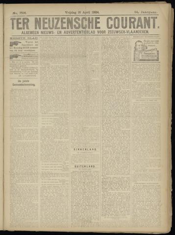 Ter Neuzensche Courant. Algemeen Nieuws- en Advertentieblad voor Zeeuwsch-Vlaanderen / Neuzensche Courant ... (idem) / (Algemeen) nieuws en advertentieblad voor Zeeuwsch-Vlaanderen 1924-04-18