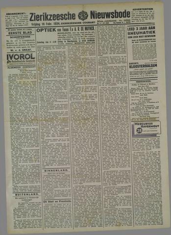 Zierikzeesche Nieuwsbode 1934-02-16
