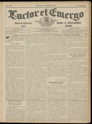 Luctor et Emergo. Antirevolutionair nieuws- en advertentieblad voor Zeeland / Zeeuwsch-Vlaanderen. Orgaan ter verspreiding van de christelijke beginselen in Zeeuwsch-Vlaanderen 1912-02-24