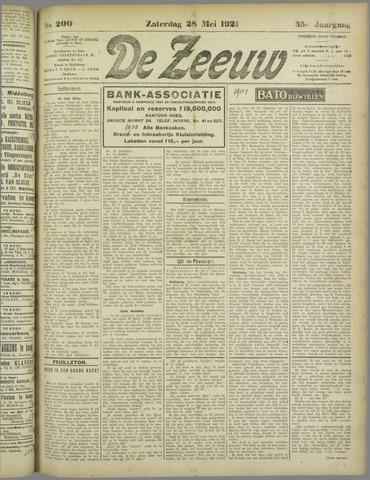 De Zeeuw. Christelijk-historisch nieuwsblad voor Zeeland 1921-05-28
