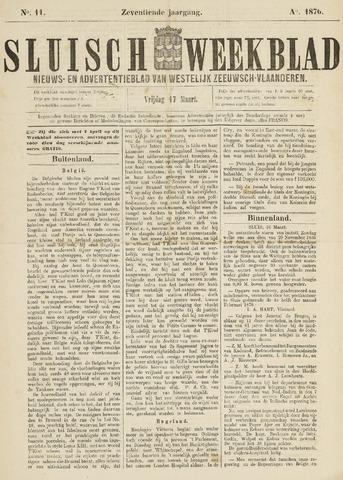 Sluisch Weekblad. Nieuws- en advertentieblad voor Westelijk Zeeuwsch-Vlaanderen 1876-03-17