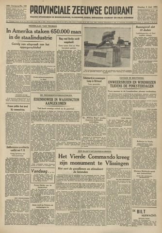 Provinciale Zeeuwse Courant 1952-06-03