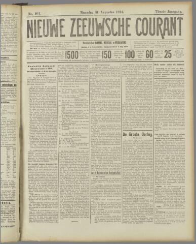 Nieuwe Zeeuwsche Courant 1914-08-31