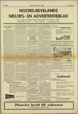 Noord-Bevelands Nieuws- en advertentieblad 1958-02-08
