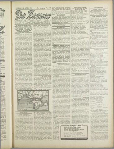 De Zeeuw. Christelijk-historisch nieuwsblad voor Zeeland 1944-04-14