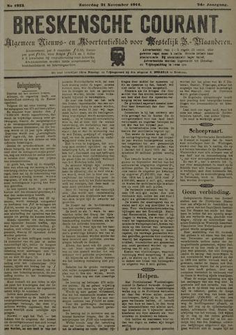 Breskensche Courant 1914-11-21