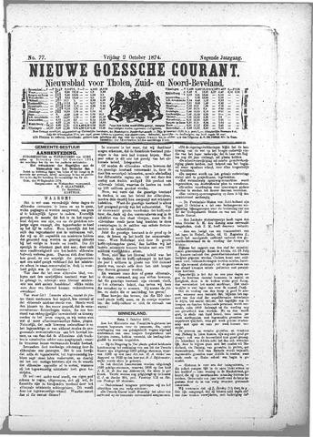 Nieuwe Goessche Courant 1874-10-02