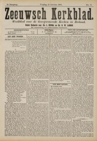 Zeeuwsche kerkbode, weekblad gewijd aan de belangen der gereformeerde kerken/ Zeeuwsch kerkblad 1909-10-15
