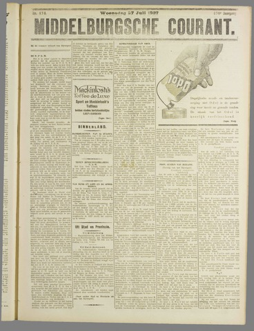 Middelburgsche Courant 1927-07-27