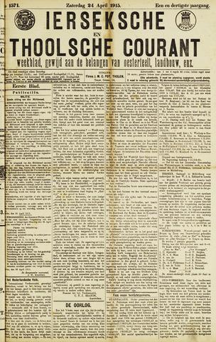 Ierseksche en Thoolsche Courant 1915-04-24