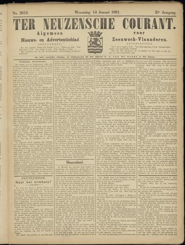 Ter Neuzensche Courant. Algemeen Nieuws- en Advertentieblad voor Zeeuwsch-Vlaanderen / Neuzensche Courant ... (idem) / (Algemeen) nieuws en advertentieblad voor Zeeuwsch-Vlaanderen 1891-01-14