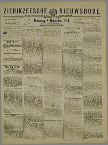 Zierikzeesche Nieuwsbode 1914-12-07