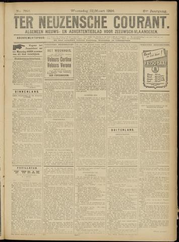 Ter Neuzensche Courant. Algemeen Nieuws- en Advertentieblad voor Zeeuwsch-Vlaanderen / Neuzensche Courant ... (idem) / (Algemeen) nieuws en advertentieblad voor Zeeuwsch-Vlaanderen 1926-03-31