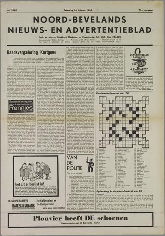 Noord-Bevelands Nieuws- en advertentieblad 1968-02-24
