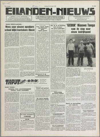Eilanden-nieuws. Christelijk streekblad op gereformeerde grondslag 1980-11-18