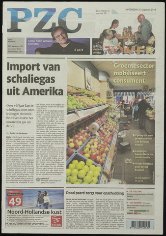 Provinciale Zeeuwse Courant 2014-08-13