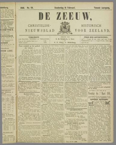 De Zeeuw. Christelijk-historisch nieuwsblad voor Zeeland 1888-02-16