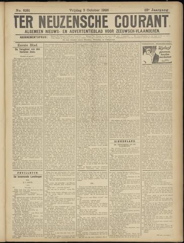 Ter Neuzensche Courant. Algemeen Nieuws- en Advertentieblad voor Zeeuwsch-Vlaanderen / Neuzensche Courant ... (idem) / (Algemeen) nieuws en advertentieblad voor Zeeuwsch-Vlaanderen 1928-10-05