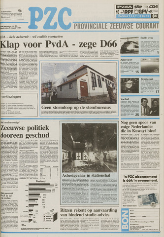 Provinciale Zeeuwse Courant 1991-03-07
