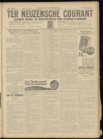 Ter Neuzensche Courant. Algemeen Nieuws- en Advertentieblad voor Zeeuwsch-Vlaanderen / Neuzensche Courant ... (idem) / (Algemeen) nieuws en advertentieblad voor Zeeuwsch-Vlaanderen 1934-10-26