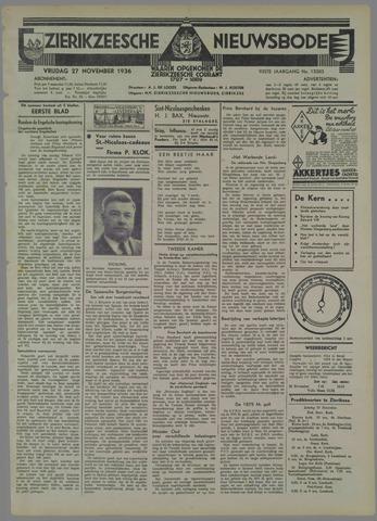 Zierikzeesche Nieuwsbode 1936-11-27