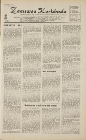 Zeeuwsche kerkbode, weekblad gewijd aan de belangen der gereformeerde kerken/ Zeeuwsch kerkblad 1962-10-19