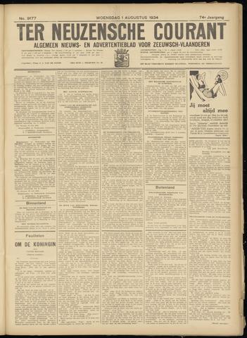 Ter Neuzensche Courant. Algemeen Nieuws- en Advertentieblad voor Zeeuwsch-Vlaanderen / Neuzensche Courant ... (idem) / (Algemeen) nieuws en advertentieblad voor Zeeuwsch-Vlaanderen 1934-08-01