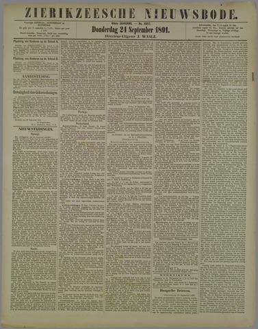 Zierikzeesche Nieuwsbode 1891-09-24
