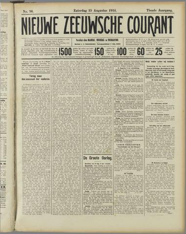 Nieuwe Zeeuwsche Courant 1914-08-15