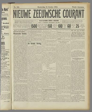 Nieuwe Zeeuwsche Courant 1914-10-15