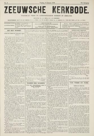 Zeeuwsche kerkbode, weekblad gewijd aan de belangen der gereformeerde kerken/ Zeeuwsch kerkblad 1938-01-14