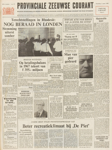 Provinciale Zeeuwse Courant 1968-03-07
