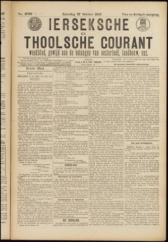 Ierseksche en Thoolsche Courant 1917-10-27