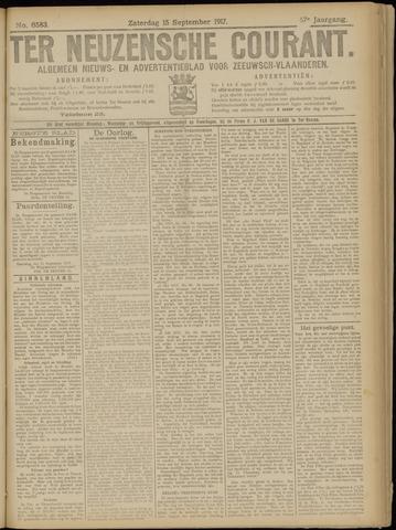 Ter Neuzensche Courant. Algemeen Nieuws- en Advertentieblad voor Zeeuwsch-Vlaanderen / Neuzensche Courant ... (idem) / (Algemeen) nieuws en advertentieblad voor Zeeuwsch-Vlaanderen 1917-09-15