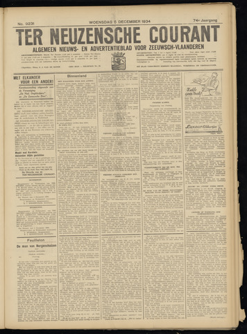 Ter Neuzensche Courant. Algemeen Nieuws- en Advertentieblad voor Zeeuwsch-Vlaanderen / Neuzensche Courant ... (idem) / (Algemeen) nieuws en advertentieblad voor Zeeuwsch-Vlaanderen 1934-12-05