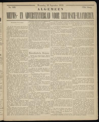 Ter Neuzensche Courant. Algemeen Nieuws- en Advertentieblad voor Zeeuwsch-Vlaanderen / Neuzensche Courant ... (idem) / (Algemeen) nieuws en advertentieblad voor Zeeuwsch-Vlaanderen 1873-09-10
