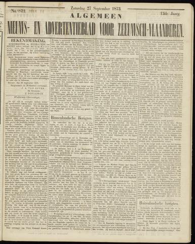 Ter Neuzensche Courant. Algemeen Nieuws- en Advertentieblad voor Zeeuwsch-Vlaanderen / Neuzensche Courant ... (idem) / (Algemeen) nieuws en advertentieblad voor Zeeuwsch-Vlaanderen 1873-09-27