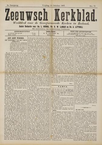 Zeeuwsche kerkbode, weekblad gewijd aan de belangen der gereformeerde kerken/ Zeeuwsch kerkblad 1907-10-18