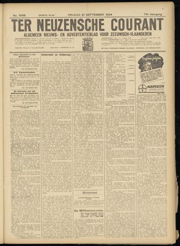 Ter Neuzensche Courant. Algemeen Nieuws- en Advertentieblad voor Zeeuwsch-Vlaanderen / Neuzensche Courant ... (idem) / (Algemeen) nieuws en advertentieblad voor Zeeuwsch-Vlaanderen 1934-09-21