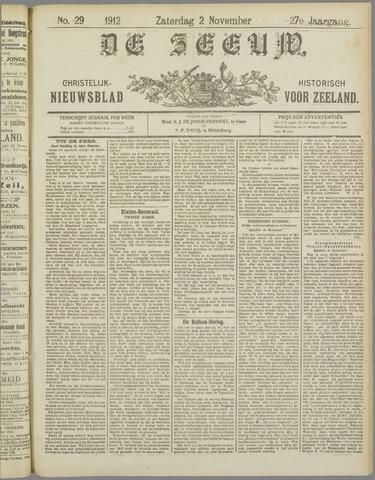 De Zeeuw. Christelijk-historisch nieuwsblad voor Zeeland 1912-11-02