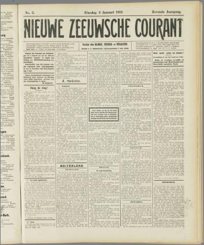 Nieuwe Zeeuwsche Courant 1911-01-03