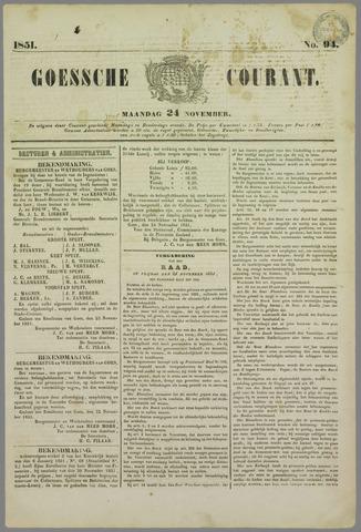 Goessche Courant 1851-11-24
