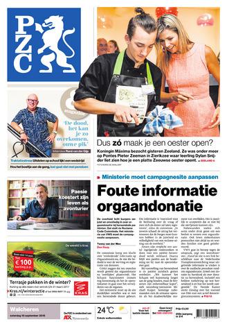 Provinciale Zeeuwse Courant 2016-09-10