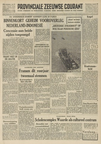 Provinciale Zeeuwse Courant 1962-03-01