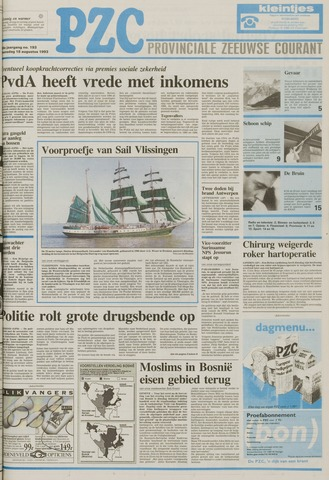 Provinciale Zeeuwse Courant 1993-08-18