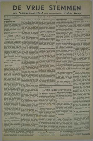 Vrije Stemmen van Schouwen-Duiveland, tevens mededeelingenblad Militair Gezag 1945-08-23